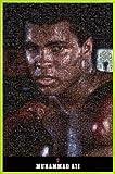 Muhammad Ali 1art1 Póster con Marco (Plástico) - Portrait, Mosaic (91 x 61cm)