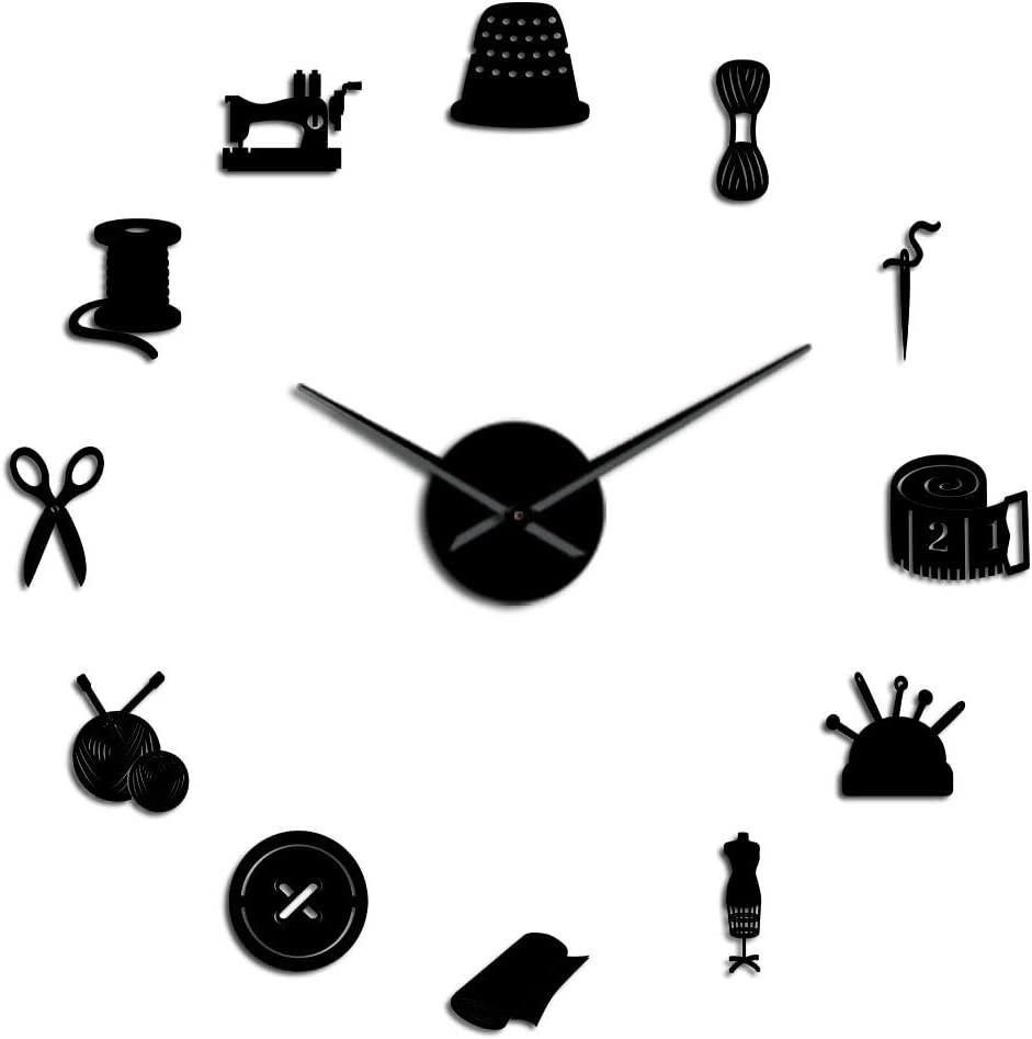 SZG Tailor 25% OFF Atlanta Mall Shop DIY Large Seam Dressmaker Needlecraft Clock Wall