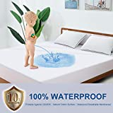 BedStory Waterproof Mattress Protector Full Size, Organic Cotton Breathable Mattress Pad Cover, Bed Mattress Protector