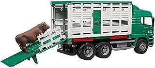 Bruder-2749 Camión de Ganado con una Vaca, (2749)