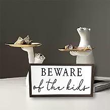 by Unbranded Hilarious Pas op voor de Kids hout ingelijst entryway teken/Boerderij houten bord/Custom pas op voor kinderen...