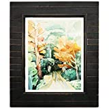 Eosglac 11x14 Picture Frames Distressed Black, Timbermount Rustic Photo Frame with Wood Siding Look Plexiglass Front, Wall Mounting Display Horizontally or Vertically
