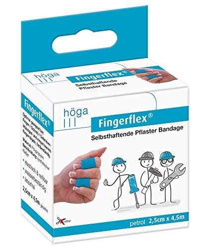 Fingerflex petrol Selbsthaftende Pflaster Bandage, elastisch, reißbar, wasserbeständig, latexfrei