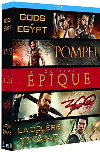 Coffret épique : Pompéi + Gods of Egypt + La Colère des titans + 300 : la naissance d'un empire [Blu-ray]