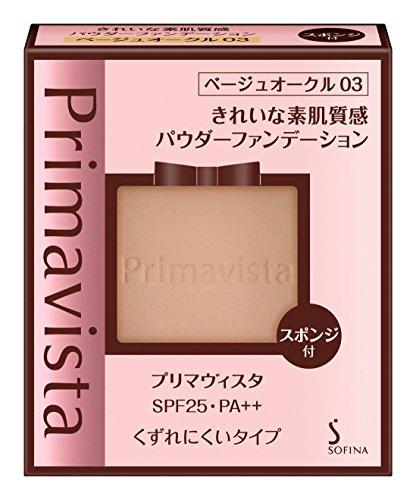 プリマヴィスタ きれいな素肌質感パウダーファンデーション ベージュオークル03 SPF25 PA++ 9g