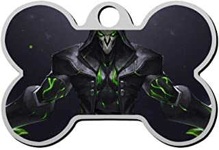 Personalized Pet Id Tags for Dogs and Cats Reaper Overwatch Funny Custom Zinc Alloy with Double-Sided Printing