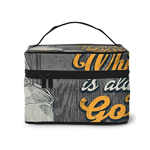 Whiskey is A Good Idea Durable Bags with Zipper Storage Bags for Outside Activity