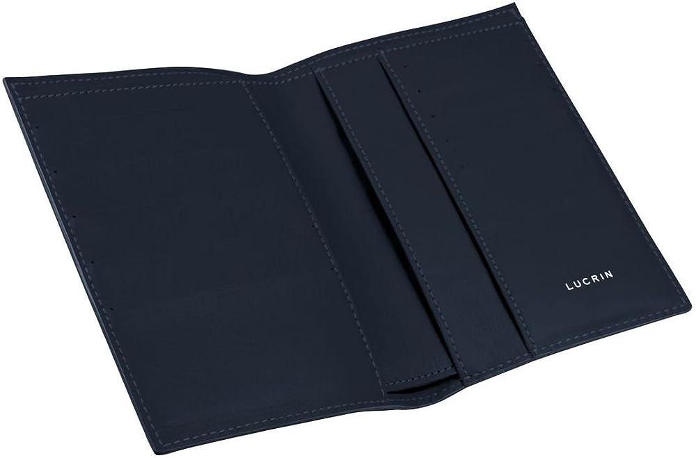 Lucrin, portafoglio, porta carte di credito, in pelle liscia, blu reale PM1126_VCLS_A