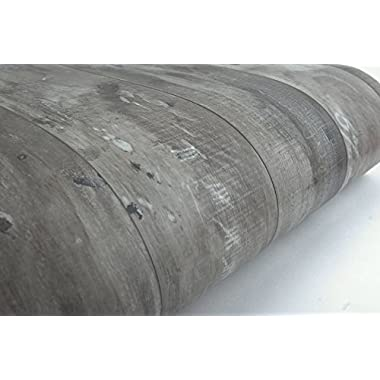 VBS Wood Panel Contact Paper Film Vinyl Self Adhesive Peel-stick Removable (Grey Brown VL7710)
