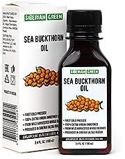Siberian Sea Buckthorn Oil | 100% Natural Extra Virgin Cold Pressed 100 ml / 3.4 fl oz | Unrefined Raw Vegan | Exclusive Healthy Diet Food Grade