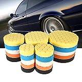 TYUZH-Esponja pulir 5pcs / Set 3/4/5/6/7 Pulgadas de Coches Esponja for pulir Kit de Herramientas de Mano, for el Coche Pulidora Cera for pulir Kit Opcional,Usos múltiples (Color : 6inch)