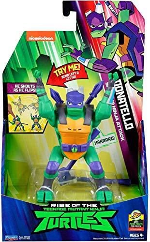 Rise of the Teenage Mutant Ninja Tartarughe 81402 ROTMNT-Deluxe Donatello - Roll laterale Attacke Deluxs Action Figura