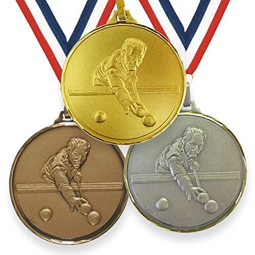 Trophy Monster Medalla de piscina de alta definición de 52 mm con cinta de latón   oro, plata o bronce.