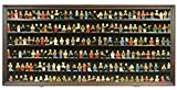 200 Toy Minifigures Miniatures Figurines Display Case Wall Cabinet Stand, with Dust Protection (Mahogany)