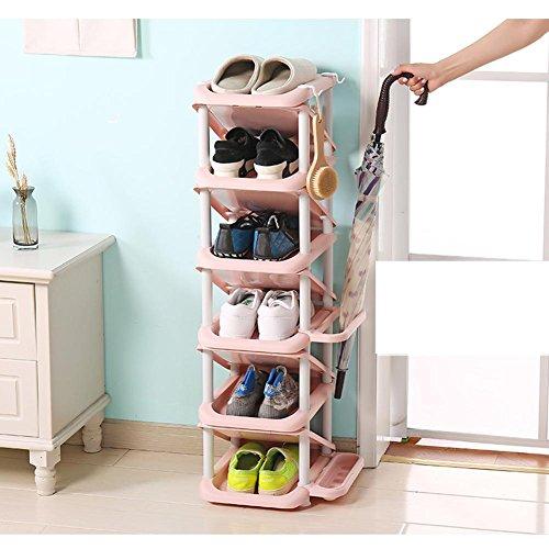 HEHUZZ Kreatives nach Hause einfaches Schuhregal, Multifunktionaler Schuhschrank aus Kunststoff, Modern und einfach Mehrschichtige...