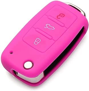 JessicaAlba Remote Flip Key FOB Silicone Case Cover for Volkswagen VW Polo Tiguan Passat B5 B6 B7 Golf EOS Scirocco Jetta MK5 MK6 Skoda Octavia A5 Superb Fabia Rapid Citigo Yeti