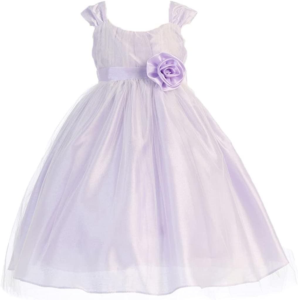 AkiDress Cap Sleeve Tulle Overlay Flower Detroit Mall Girl G for Little Dress Translated
