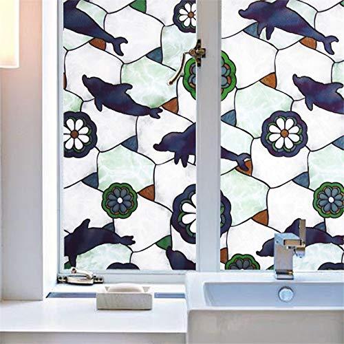 KUNHAN Raamfolie Raamsticker Dier Frosted Decoratieve Glazen Stickers Tinting Dikke Statische Cling Privacy Bescherming Raam Film.Breed 60Cm