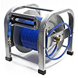 WilTec Dévidoir Automatique Enrouleur de Tuyau pneumatique 30m 12bar 1/4 Pouce