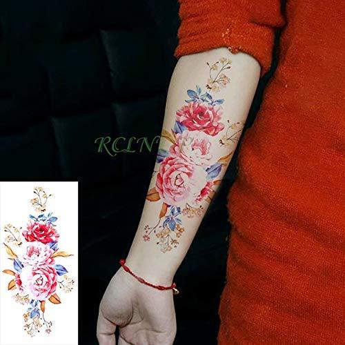 5Pcs-Design Waterproof Tattoo Sticker Floral Female Body Art ...