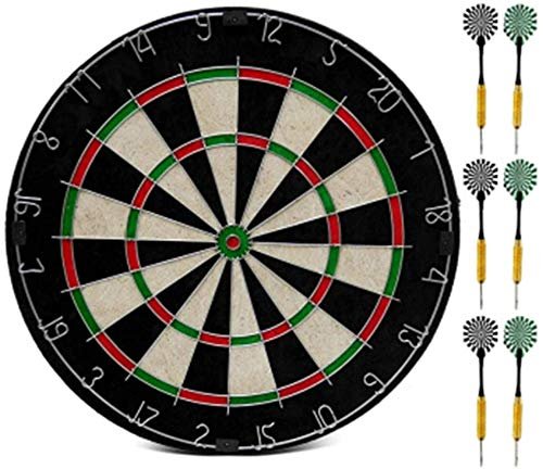 Knoijijuo Dart Board Set, 18 Inches, 6 Darts, Darts Target Toy Parent-Child Game Darts Target, Best Gift Party Game Leisure Sports,Normal