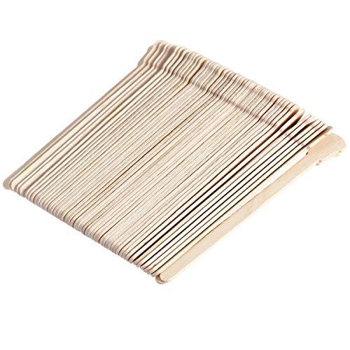 Frcolor Sticks d'applicateur de cire Bâtons d'artisanat en bois pour épilation Applicateur de spatules de bois à sourcils, paquet de 200