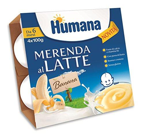 Humana Milch Snack - Banane von 4 Gläser 100g