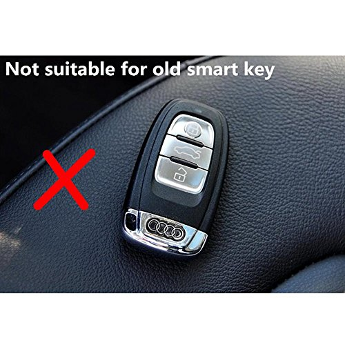 ALL ABOUT PRODUCT Car Remote Keyless Entry Key Case Cover Fob Shell for Audi A3 A4 A5 A6 A7 A8 Q7 (Carbon Fiber)