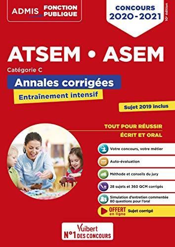 Concours ATSEM et ASEM - Catégorie C - Annales corrigées - Concours 2020-2021