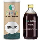Ketosene® aceite de MCT Go-Keto (60/40) con astaxantina | aceite MCT premium de ácidos grasos de coco premium | perfecto para la dieta Keto o el Bulletproof Coffee