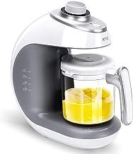 Cuocipappa KYG Robot per Pappe BFP-1800MT 5 in 1 Pentola a Vapore e Frullatore per Alimenti per l'infanzia Cucinare Mescolare Riscaldare e Sterilizzare Robot da Cucina per Bambini 220-240 V (Bianco)
