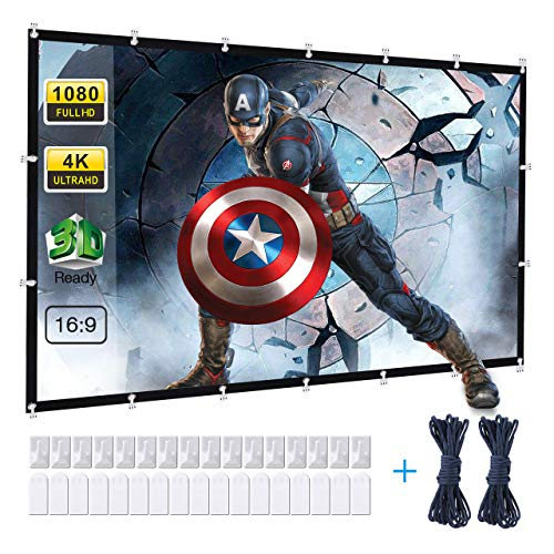 Powerextra Pantalla de Proyector 120 Inch 16: 9 HD Plegable