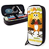 Yuanmeiju Thanksgiving Funny Turkey Estuche for Boys and Girls Large Pencil Pouch Holder Pen Case for Student College School Supplies & Office