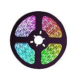 Ofgcfbvxd Tira De LED Inteligente Luces LED RGB Cambio de Color LED Luces con Control Remoto y Caja de Control para Dormitorio, Sala de Estar TV Cocina DIY Decoración Decoración Interior y Exterior