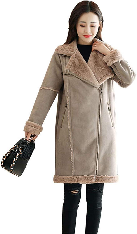 Beltnossnk Women Wool Coat Lapel Thick Long Loose Slim Overcoat Female Woolen Jackets