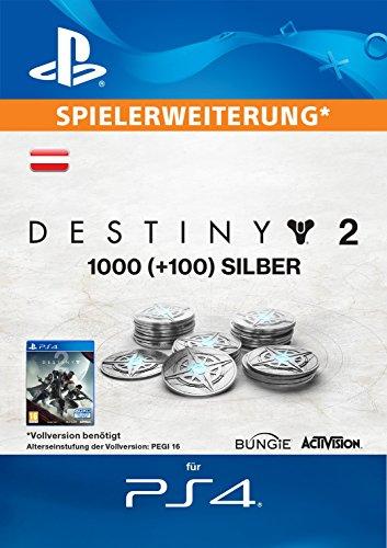 1000 (+100 Bonus) Destiny 2 Silber [PS4 Download Code - österreichisches Konto]