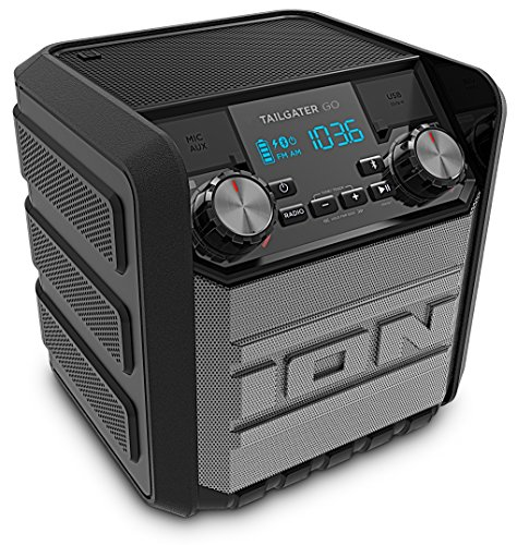 ION Audio Tailgater Go - Bluetooth luidspreker met radio, accu en USB-powerbank, waterbestendig, 20 watt