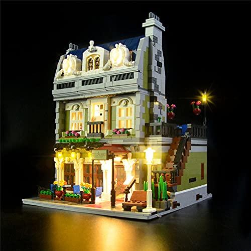 HLEZ Kit De Iluminación Led para Lego Parisian Restaurant Compatible con Ladrillos De Construcción Lego Modelo 10243 Juego De Legos No Incluido