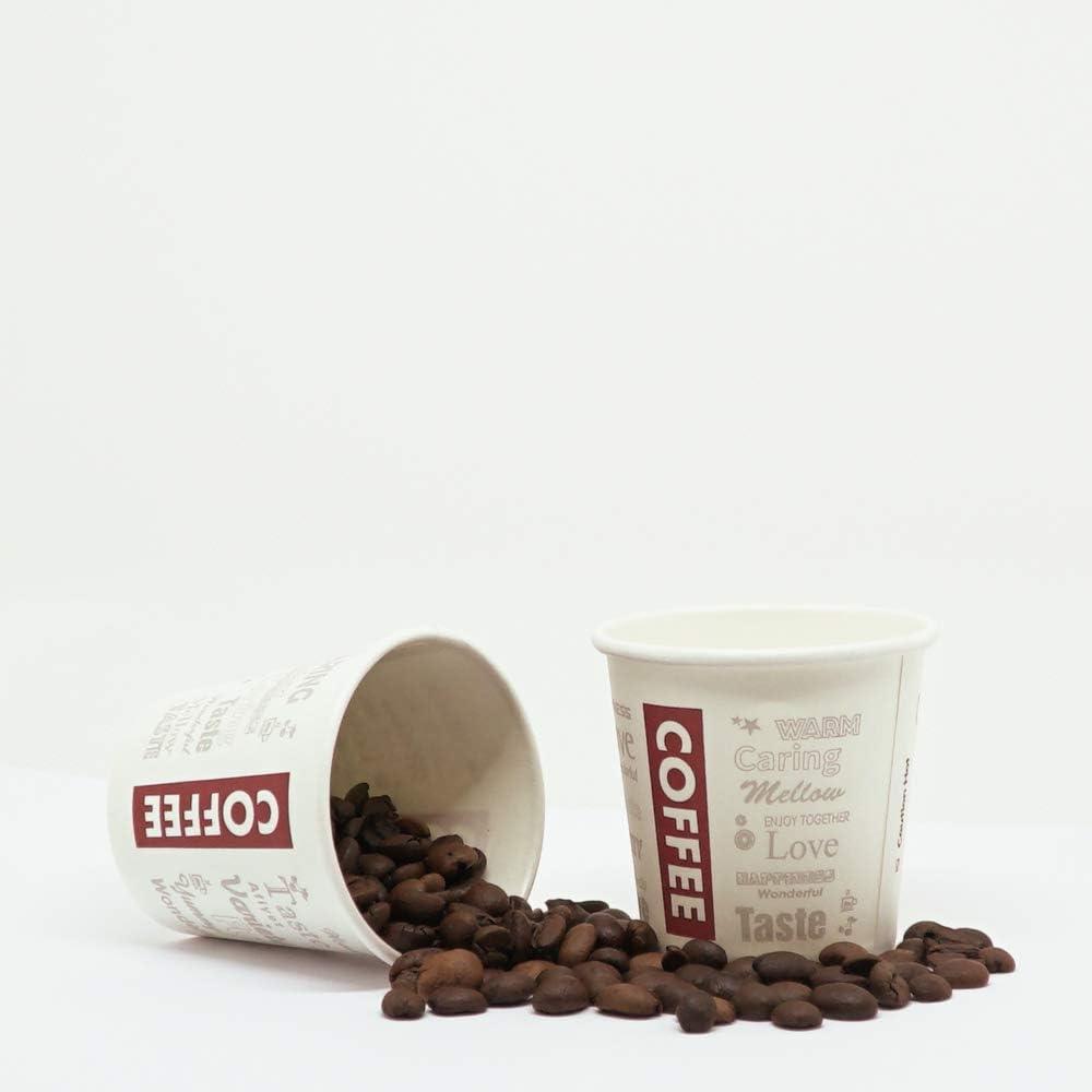 200 Vasos de Cartón Desechables para Café Espresso 120 ml para Café para Llevar. Coffee to go