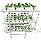 水耕栽培キット、垂直水耕栽培システムPVCチューブ植物野菜、12パイプ3層108植物サイト
