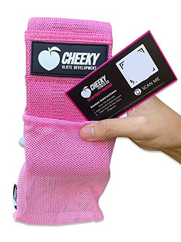 Cheeky Fitness Booty Bands Soft Fabric Non-Slip Hip Band & Glute Circle Heavy Resistance Loops for Legs & Butt