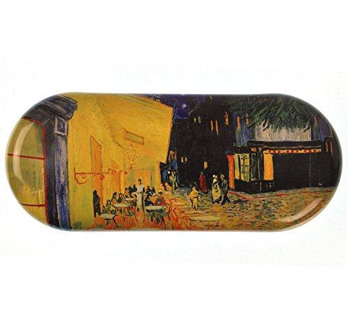 Fridolin Brillenetui Van Gogh-Café de Nuit aus Metall, bunt, 16x6.6x2.8 cm