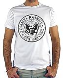 Camiseta Hombre - Unisex Ramones (Blanco, XXXL)