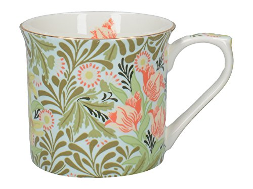 V&A William Morris Bower Wallpaper Bedruckte Kaffeetasse aus feinem Knochenporzellan, 230 ml (8 fl.oz.)