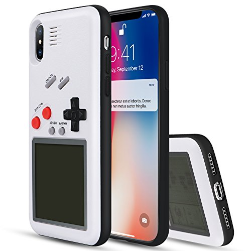 YOEDGE Gameboy Phone Case for iPhone X, Funny Tough Shockproof...
