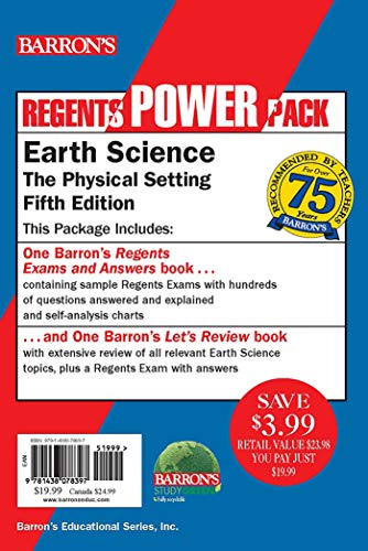 Compare Textbook Prices for Earth Science Power Pack Regents Power Packs 5 Edition ISBN 9781438078397 by Denecke Jr., Edward J.