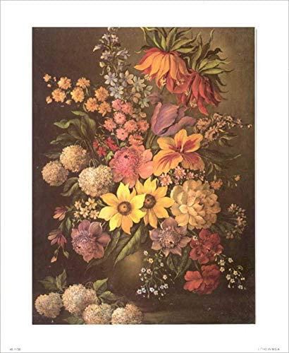 Antique store Floral III Size 16x20 inch New mail order Craft Decoupage 3D Paper Tole