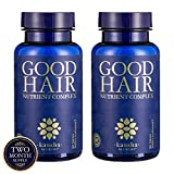 2-Pack Good Hair Growth Vitamins with DHT Blocker and Biotin for Longer, Stronger, Healthier Hair with Folic Acid, Vitamins, A, C, E - Men and Women - Hair Skin Nails, 120 Tablets