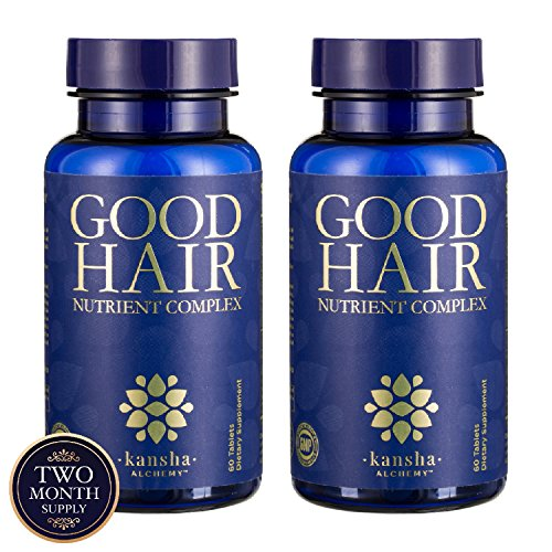 Kansha Alchemy - Good Hair Growth with DHT Blocker and Biotin for Longer, Stronger & Healthier Hair with Folic Acid, Saw Palmetto, Vitamins (A,C,E) Perfect Hair Growth for Men & Women, 2 Packs - 120 T