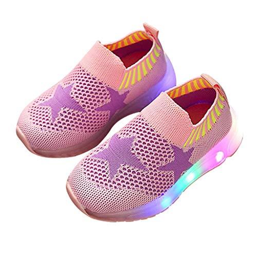 Berimaterry Zapatilla de Deporte para Correr led Zapatos de bebé para niñas Zapatos Luminosos LED para niños Zapatos Niña Zapatos de bebé Antideslizante Zapatillas con Luces para niñas niños